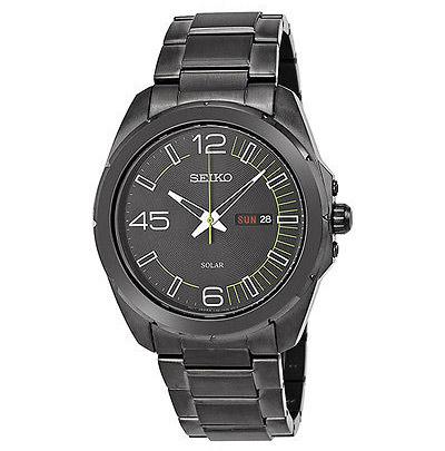 Seiko精工SNE275黑色离子镀太阳能腕表用码 eBay$73
