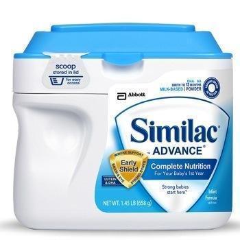 Similac 美国雅培 Similac Advance 婴儿配方奶粉 1段 658g 119元