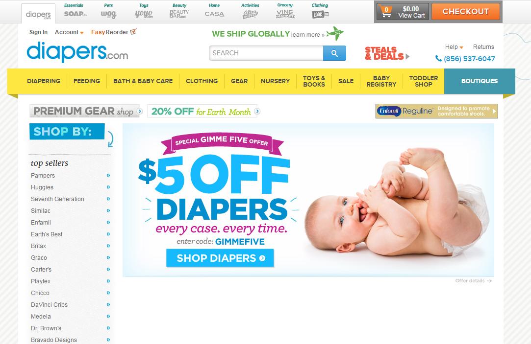 海淘转运攻略:美国母婴电商diapers转运购买教程