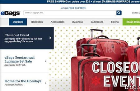 Ebags com海淘攻略:美国ebags买包包攻略及官网介绍