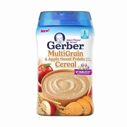 Gerber嘉宝米粉辅食分段介绍
