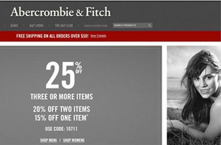 Abercrombie & Fitch(AF)美国官网购买成功经验谈