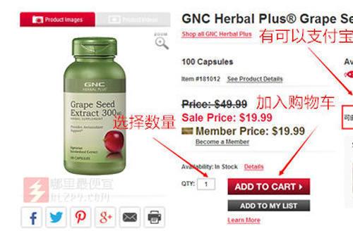 最新GNC 健安喜 美国官网 直邮攻略(支付宝付款)
