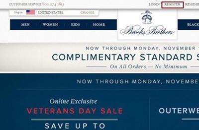 美国Brooks Brothers布克兄弟官网海淘教程