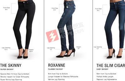 7 FOR ALL MANKIND顶级时尚女款牛仔裤版型