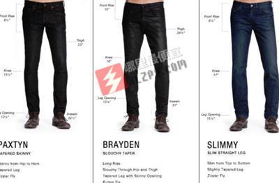 海淘攻略:7 for all mankind顶级时尚男士牛仔裤版型