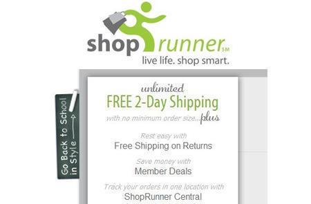 美国ShopRunner小绿人2日免费送达服务免费使用申请攻略
