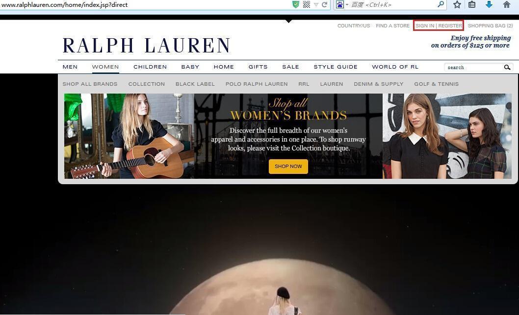 美国拉夫劳伦Ralph Lauren官网海淘攻略教程