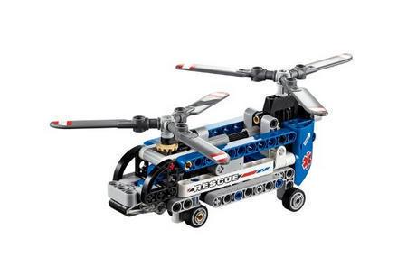 乐高直升机螺旋桨结构图