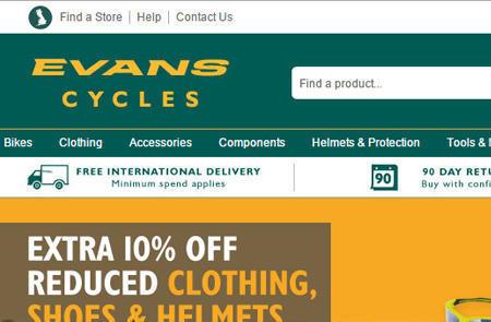 英国Evans Cycles官网购物海淘攻略