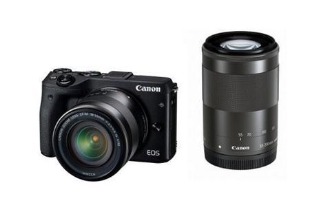 Canon 佳能 EOS M3 便携无反双头套机 71466日元