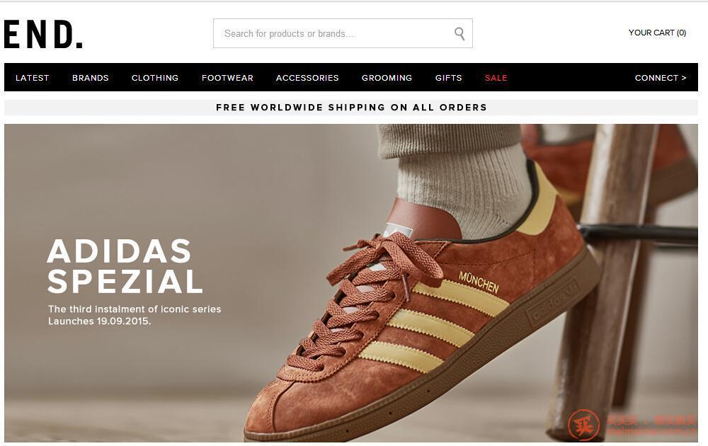 英国END 商城鞋服直邮中国手把手教程