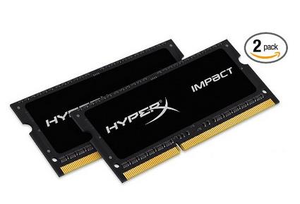 HYPERX 骇客神条 DDR3 1600 笔记本内存条 8GB*2条 $79 99