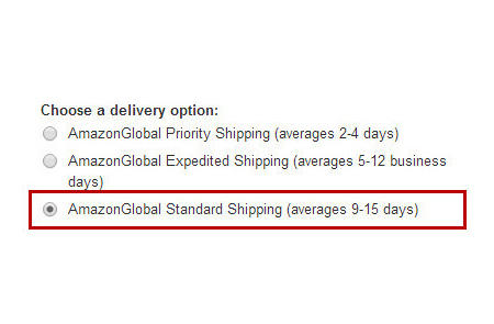 AmazonGlobal Standard Shipping是什么意思?