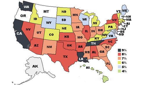 美国免税州 美国各州消费税,以及如何免税