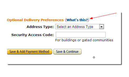 Optional Delivery Preferences 怎么填