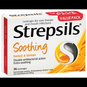 澳洲Roy Young药房:Strepsils 使立消蜂蜜化痰止咳润喉片 36片