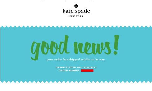 海淘经验:Kate Spade美国官网海淘下单成功