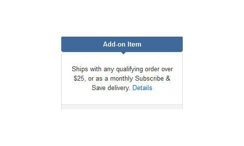 什么是亚马逊的Add-on item?必须满25美元才能购买吗?