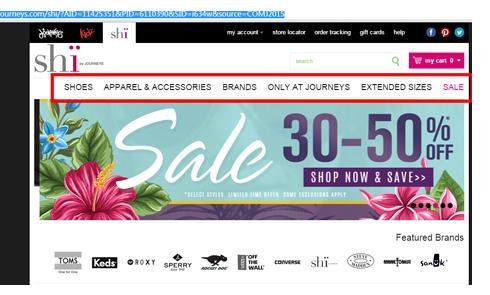 美国Shi综合性鞋子网站Journeys官网海淘攻略教程