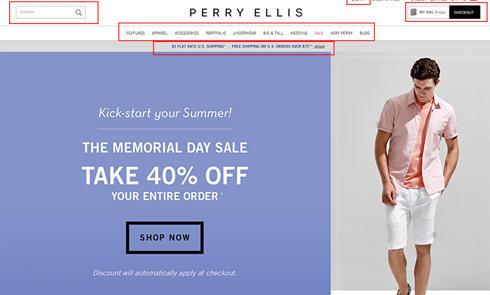 美国休闲男装品牌派瑞·艾力斯Perry Ellis官网海淘攻略教程