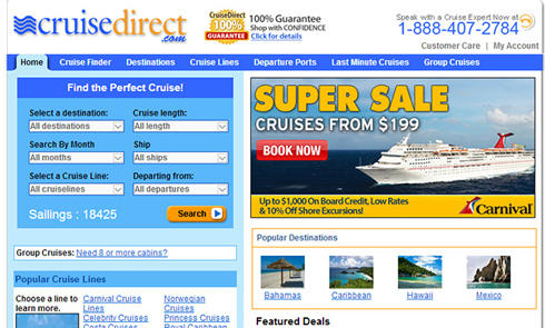 美国油轮旅行服务公司CruiseDirect官网海淘攻略教程