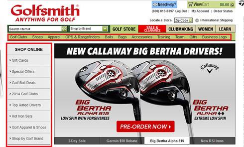 美国高尔夫装备网站Golfsmith官网直邮海淘攻略教程