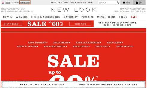 欧洲英国时装品牌网站New Look官网海淘攻略教程