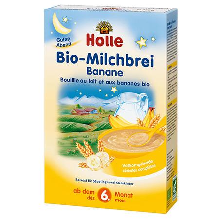德国UKA优卡有机生活馆 Holle泓乐 有机香蕉味婴幼儿晚安米糊(6个月+)250g (包邮活动中)