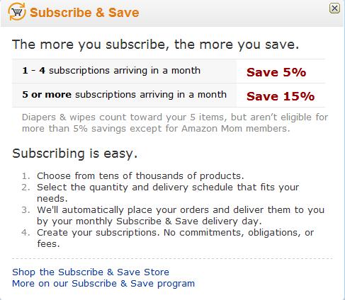 美国亚马逊(S&S)最新政策介绍:Amazon Subscribe & Save