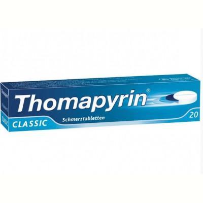 德国UKA优卡有机生活馆 Thomapyrin止疼镇痛片 (牙痛 月经痛 头痛) 20片