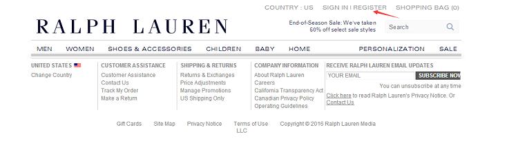 Ralph Lauren 美国官网注册购物教程
