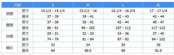 海淘必备尺码对照表(简化版)