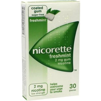 德国UKA优卡有机生活馆 Nicorette 薄荷味戒烟口香糖2mg x30粒