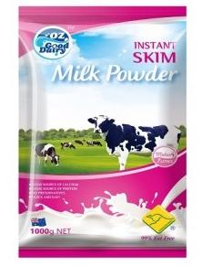 OZ 高钙脱脂奶粉 儿童 学生 成人 老年人 1kg【全场满99澳0运费】