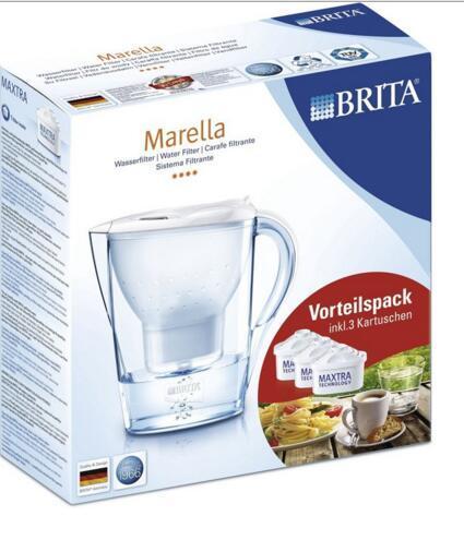 德国BA保镖药房Brita Marella 碧然德滤水壶套装一壶三芯 白色 2 4L 包邮