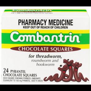 【凑单免邮+】Combantrin 驱虫打虫杀蛔虫巧克力块 24块 澳洲直邮! AU$18 99,¥95 5