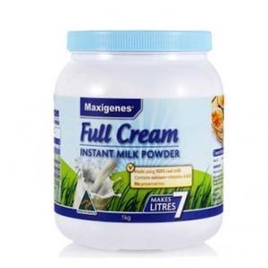 最后1天【凑单免邮+】Maxigenes 美可卓 澳洲蓝胖子奶粉 高钙 成人全脂奶粉1kg 澳洲直邮! AU$13