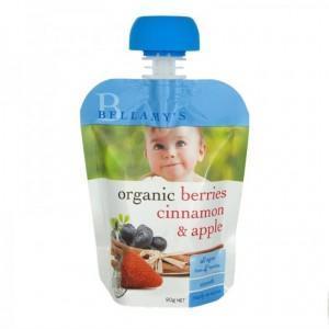 Bellamy& 039s 贝拉米 婴幼儿辅食有机浆果肉桂苹果水果泥 4个月以上 90g