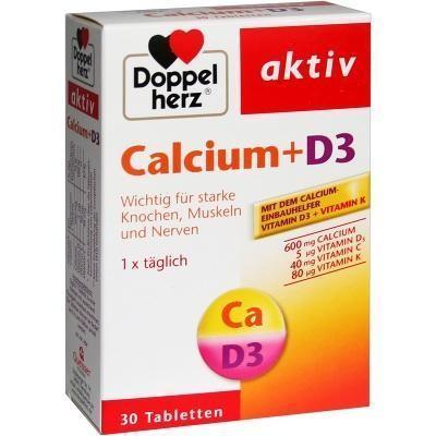 【德国UKA】Doppelherz 双心 钙+D3营养片 30片 特价:€3 81约¥28 44