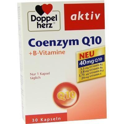 【德国UKA】Doppelherz 双心 辅酶Q10+B族维生素胶囊 30粒 特价:€7 33约¥57 75