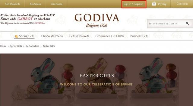 Godiva美国官网海淘攻略教程