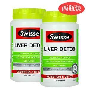 爆品组合装:Swisse肝脏排毒片 120片 (2瓶装) 强效 澳洲直邮! 售价仅AU$39 99
