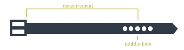 海淘腰带尺码对照表说明