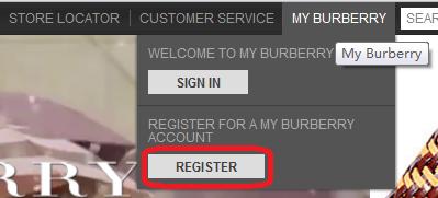 英国BURBERRY(巴宝莉)网站购物流程