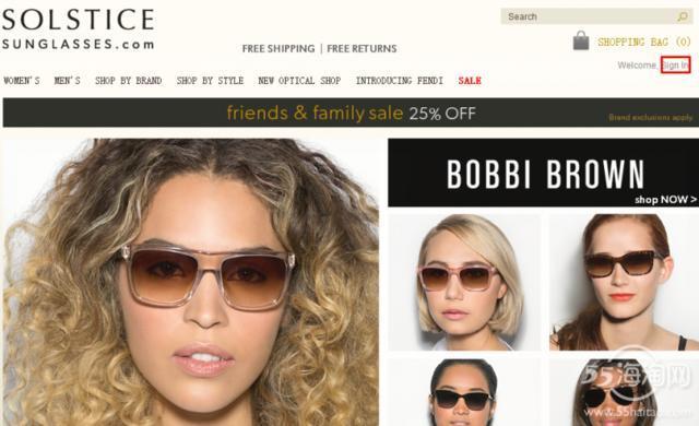 海淘眼镜SOLSTICEsunglasses网站购物攻略流程