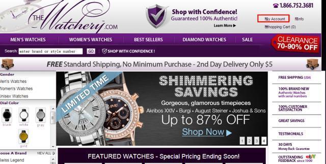 海淘折扣手表网站The Watchery购物流程