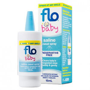 FLO Baby Saline+滴鼻喷雾液 15ml 澳洲直邮!