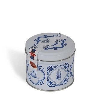 荷兰直邮:Daelmans 达尔蒙斯 代夫特蓝色罐装礼盒焦糖华夫饼 8片【满减+独家专享+运费8折】