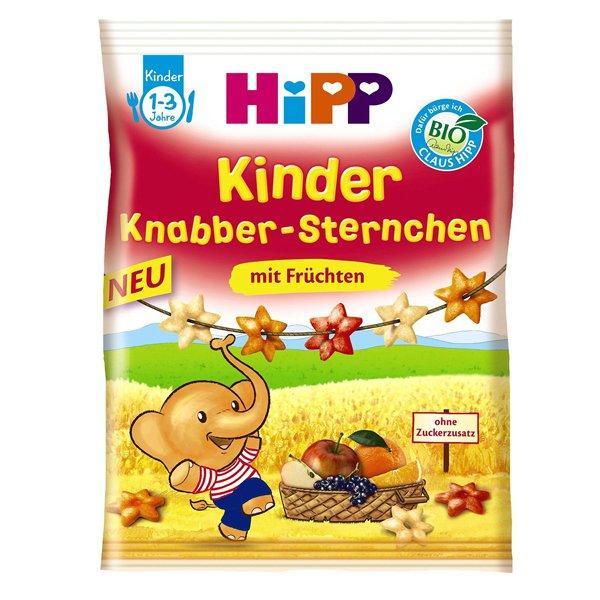 满68欧免邮+特价+税补 Hipp 喜宝 香脆小星星型饼干 水果味 30 g 特价:1 95€